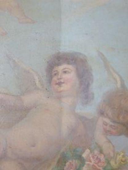 P1090361 Maison Mousset: restauration de peintures murales