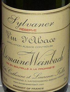Sylvaner Réserve 2008 Dom Weinbach