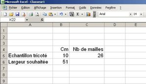 Excel Comment Crer Son Calculateur De Tricotage Avec