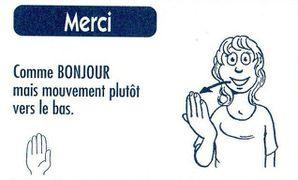 dire merci en langue des signes