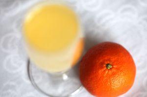 weihnachtlicher clementinen-likör - mit sekt