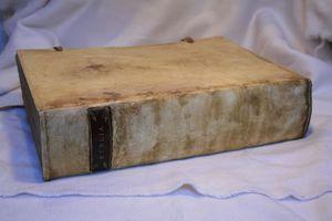 bible après restauration et nouvelle reliure