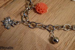 bracelet fleur corail détail 2