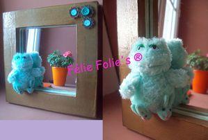 Miroir PELUCHE en carton - cadre miroir bois enfant peluche grenouille