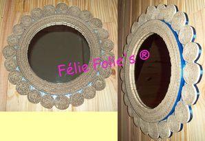 miroirs en dentelle de carton