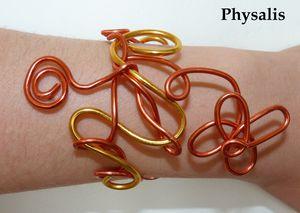 bracelet or et orange