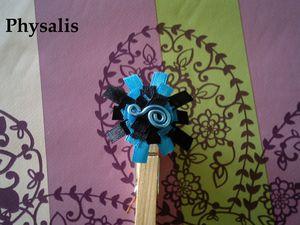 bague alu ruban bleue