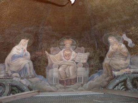 P1110942 Restauration des peintures murales du choeur de l'église de Seuzey