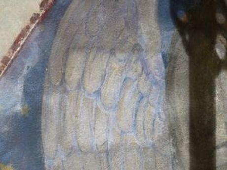 P1120819 Restauration de l'arc triomphal de l'église de Seuzey
