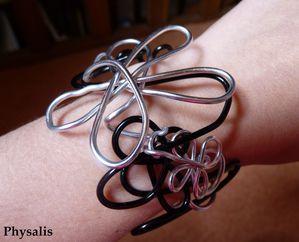 bracelet argent et noir