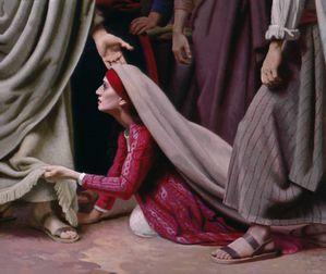 Resultado de imagen de Jesus sanando a la sra de las hemorragias