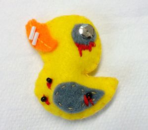 Zombie Felties Ducky