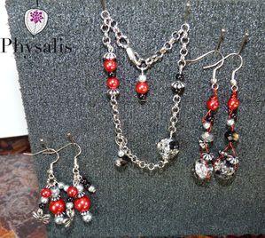 theme perle rouge noir argent