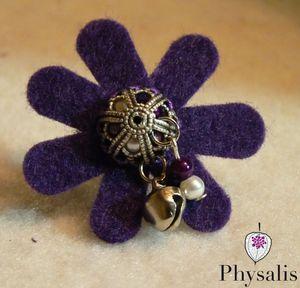bague feutrine violette