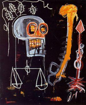 20 Basquiat 82 Crâne noir Coll Mr & Mrs John Martin Shea