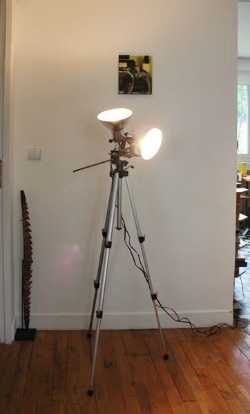 Lampe Design Industriel Sur Pied Photo Vintage 1960
