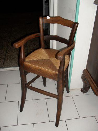 Chaise Haute Denfant Volutive Ancienne Et Paille En