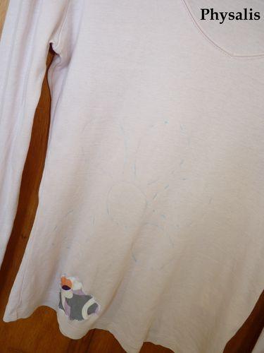 tee shirt en cours de custo