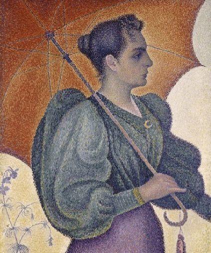 Signac - La femme à l'ombrelle-light
