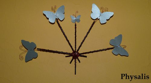bouquet papillon mural