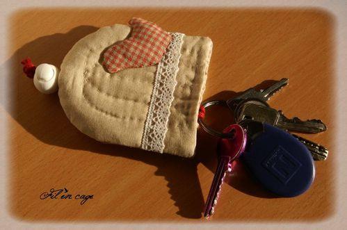 porte clés cage oiseau 2