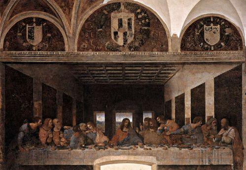 Leonardo da Vinci-La Cene-1428 Santa-Maria-delle-gracie Mil