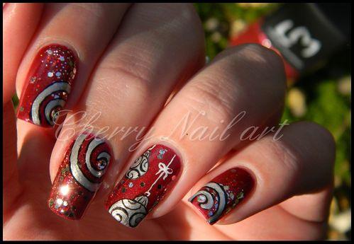 Noel Inspiration Cherry Nail Art Le Blog De So Cute Nail