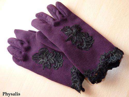 gant violet et dentelle 1
