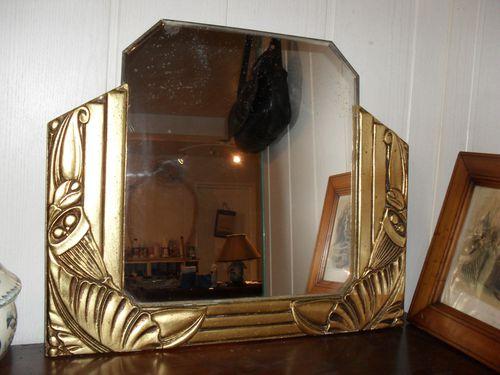 A Vendre Miroir Art Dco Dor Le Blog De Jadis