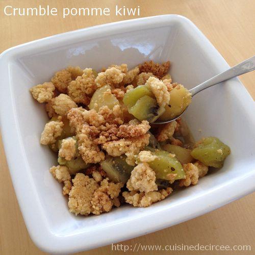 crumble pomme kiwi