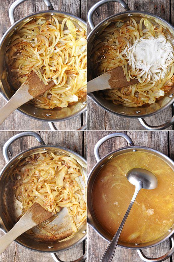 Soupe à l'oignon préparation