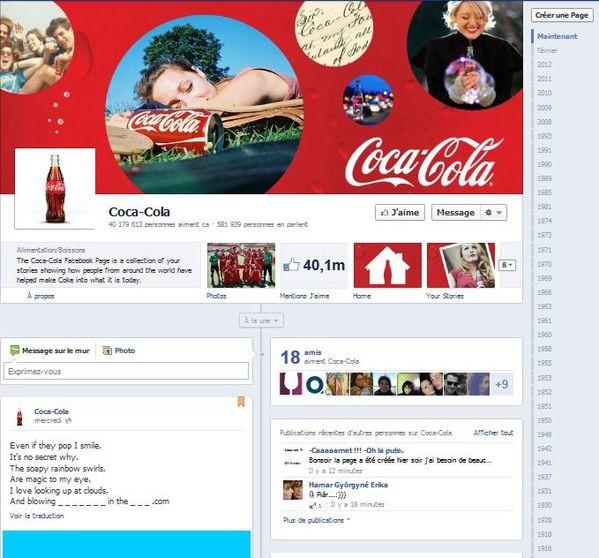 page faceboo coca cola