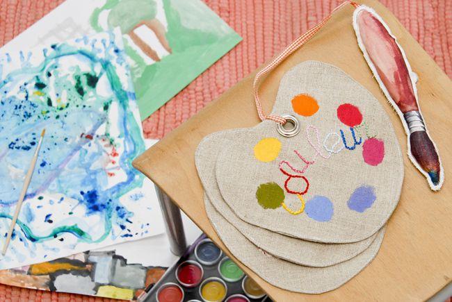 livre en tissu pallette d'artiste peintre 3