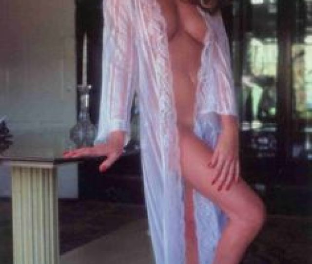 Vanna White Nude Posing In Home Robe