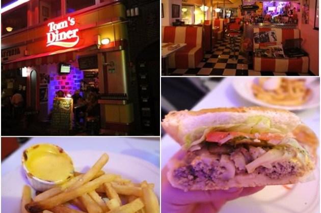 台北東區 湯姆漢堡 Tom's Diner~走迷幻復古風的老牌漢堡店
