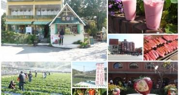 苗栗 大湖酒莊 草莓香腸&花間集 草莓奶昔(食尚玩家)~春日採草莓去