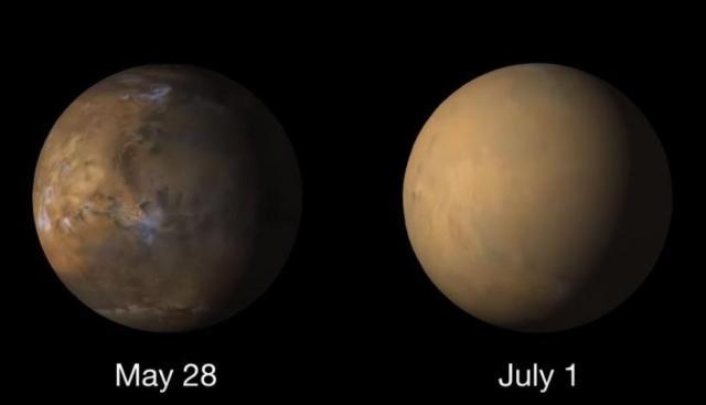 NASA muestra el nuevo rostro de Marte tras sufrir una tormenta de polvo nivel planetario