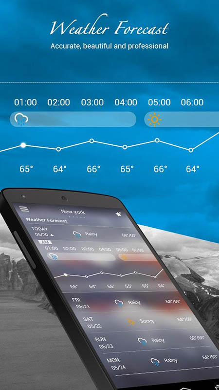meilleures applications meteo go weather forecast