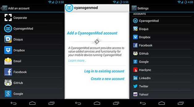 CyanogenMod compte