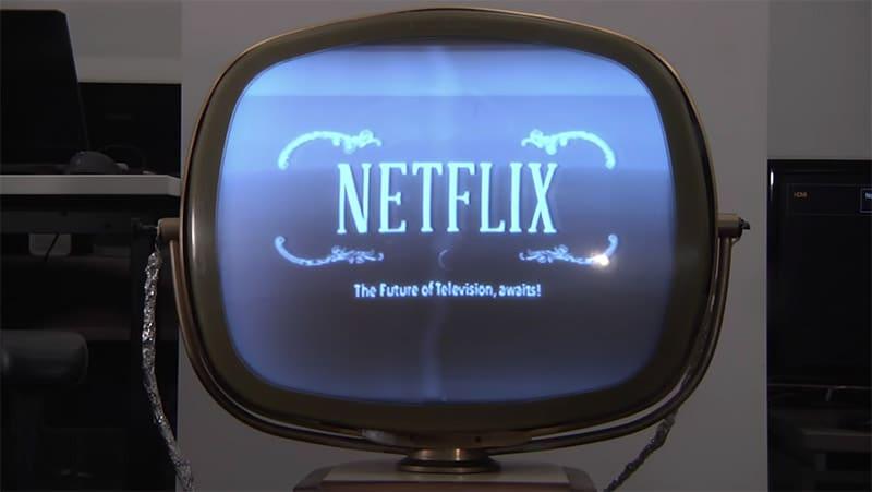 netflix sur une tv des annees 50 c est