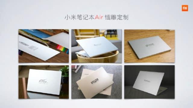 xiaomi mi notebook air couleurs