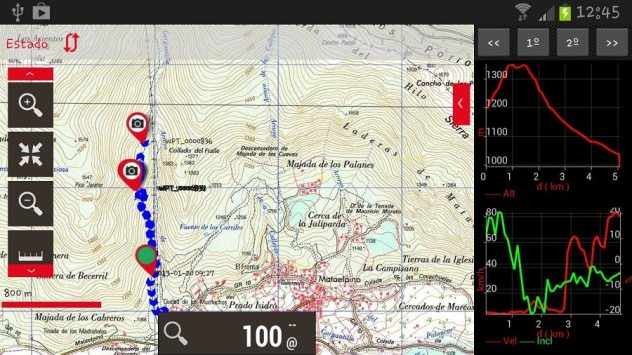 orux maps vélo applications android
