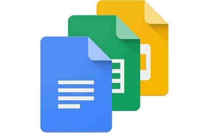 Google Docs, Sheet et Slides