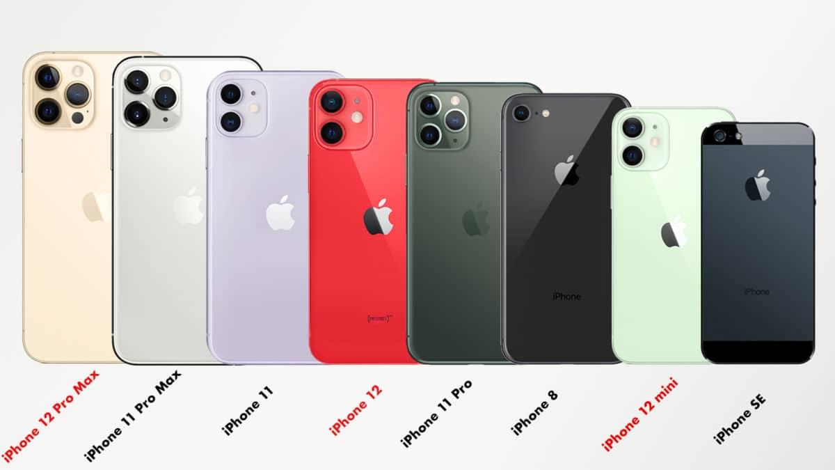 iphone 12 comparez la taille des