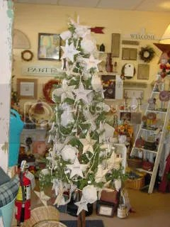 ivory beach themed christmas tree - Beach Themed Christmas Trees