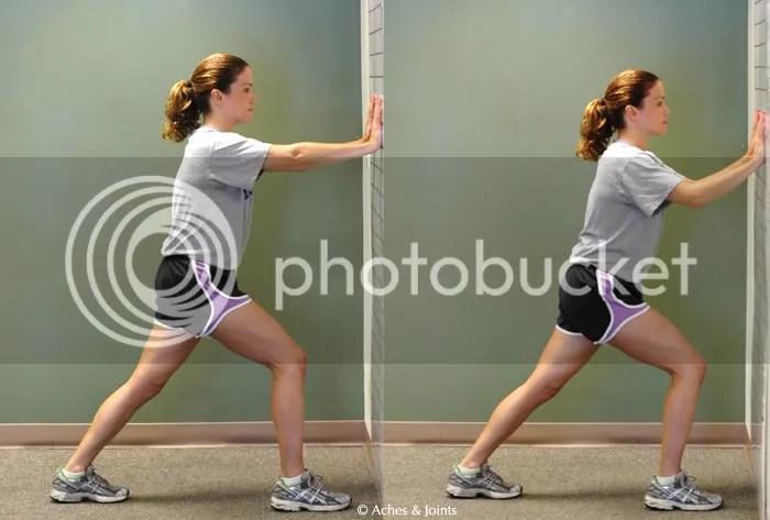 heel achilles tendon stretch, Meg Vitter
