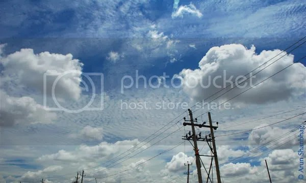 Blue Sky pics during Bengaluru bangalore tour by Arun Shanbhag