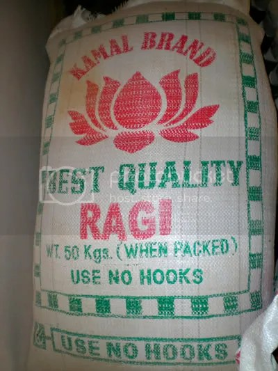 Fresh ground Raagi Flour pics by Arun Shanbhag
