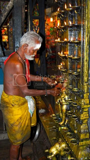picture of Oil Lamps at the Meenakshi Temple in Madurai Diwali Deepavali Greetings