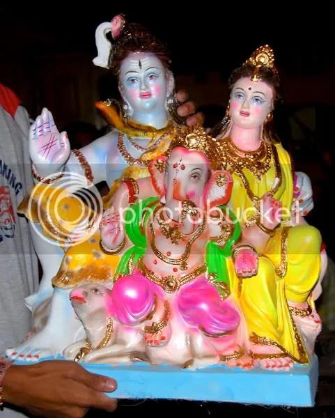 Picture photograph of Ganapati murthy, Ganesh utsav murthy during Ganesh Chaturthi by Arun Shanbhag Shiva Parvati